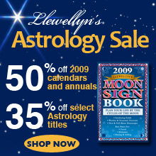 20% off Astrology readings, 35% off Astrology books, 50% off Astrology annuals!