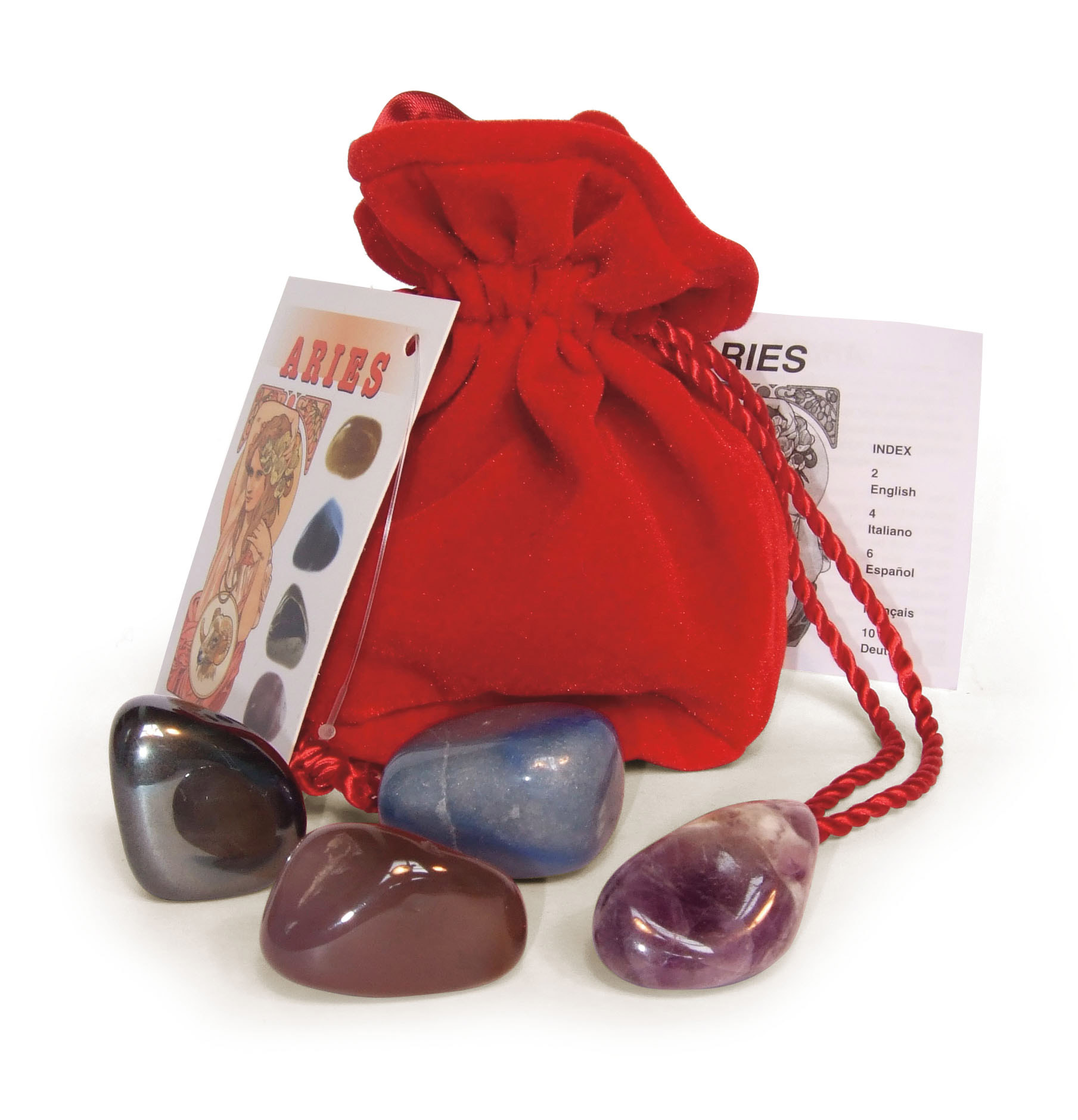 Aries Astrological Crystal Talismans, by Lo Scarabeo