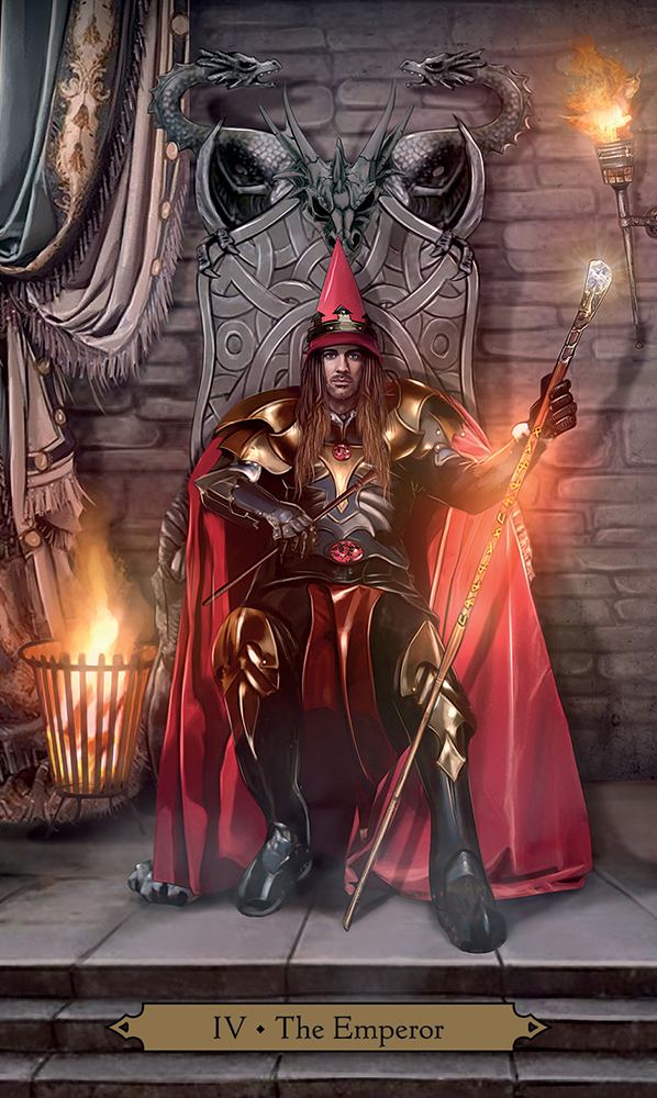 The Emperor from Wizards Tarot