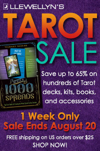 Save Up to 65% on Hundreds of Tarot Books, Kits, Decks, and More During Llewellyn's Anuual Tarot Sale! 1 Week only! Shop now!