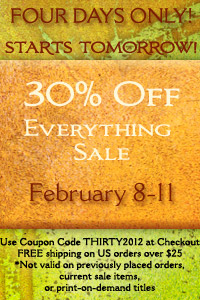 Save 30% on Everything! Sale Starts Tomorrow!