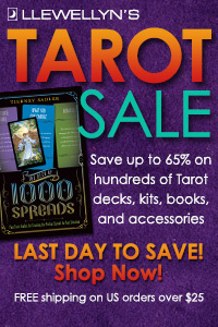 Last Day to Save Up to 65% on Hundreds of Tarot Decks, Books, Bags, and More! Free Shipping on U.S. Orders Over $25! Shop Now!