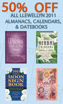 Save 50% On Llewellyn's 2011 Calendars and Almanacs!