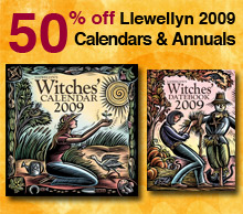 Save 50% off all Llewellyn 2009 Calendars and Annuals