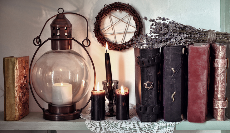 Old Grimoires and Candles