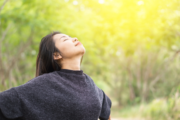 Woman at Peace in Nature