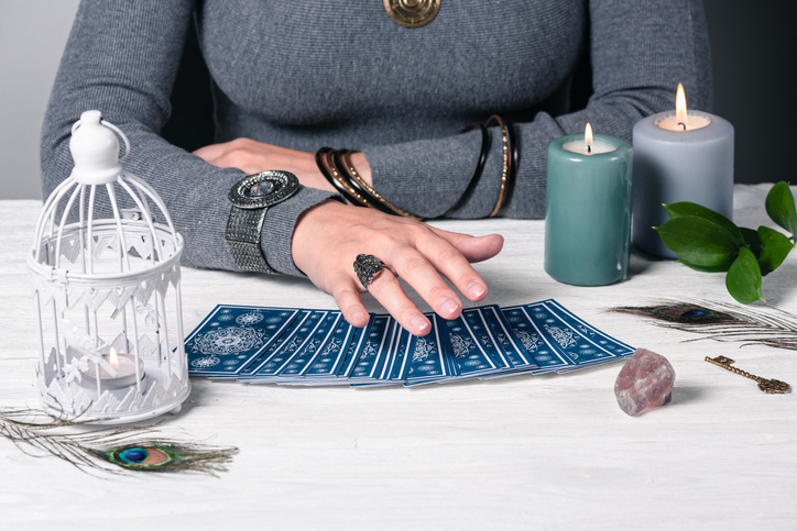 Woman Reading Tarot