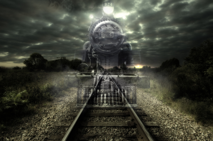 Image result for haunted trains