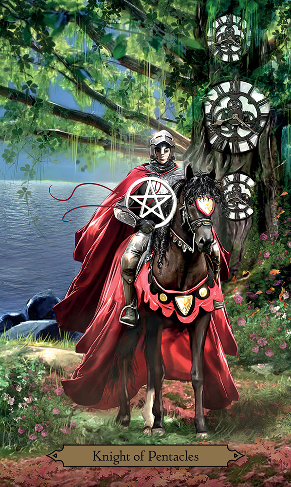 Knight of Pentacles from the Wizards Tarot
