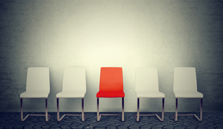 Empty Chair for Job Interview