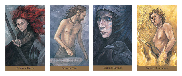Hidden Realm Tarot Eights