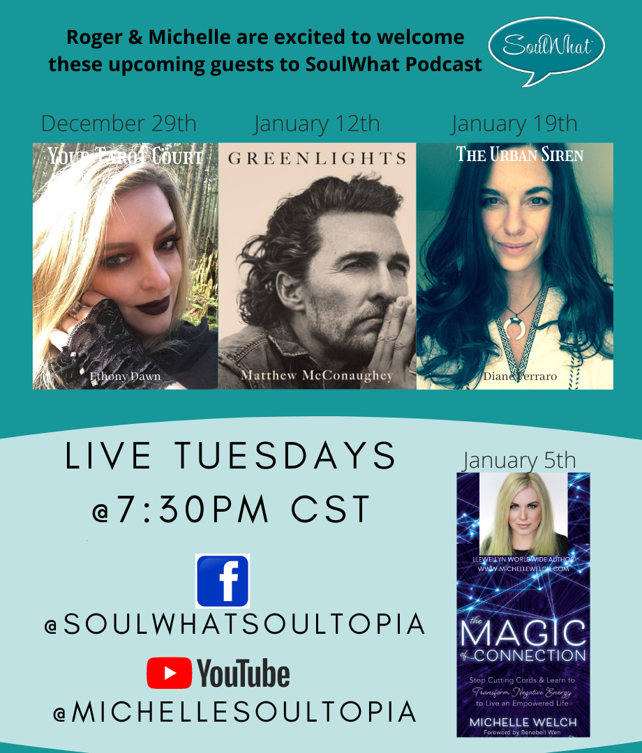 Upcoming Guests on Michelle Welch's SoulWhat Podcast