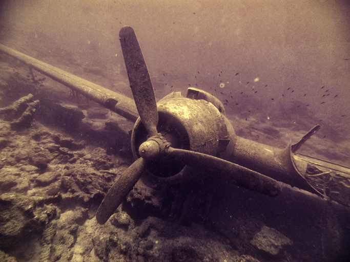 Haunted Plane Under Water