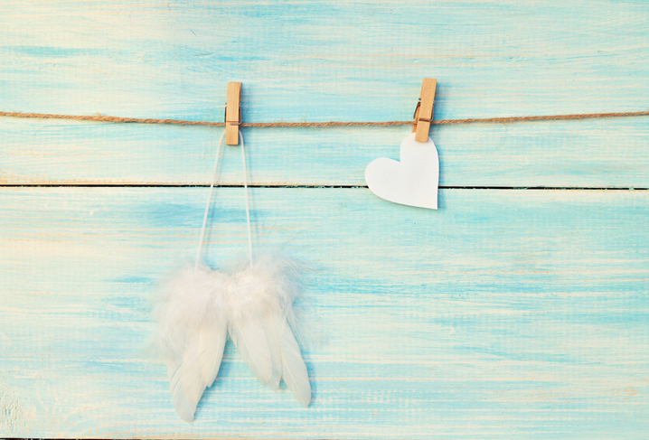 White Feather and Heart