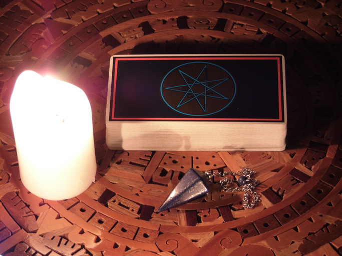 Tarot Deck and Candle