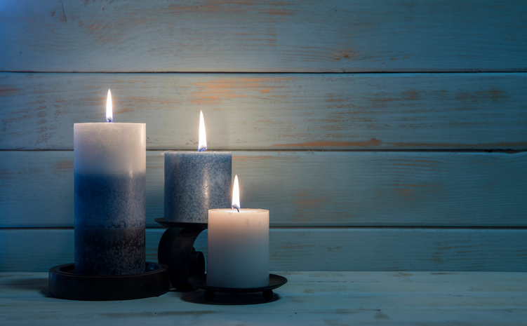Winter Solstice Candles