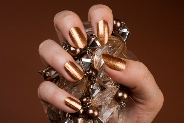 Gold Nails and Jewelry