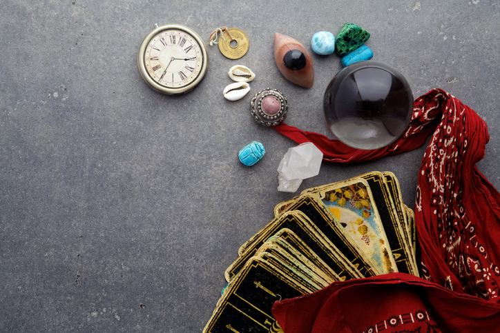 Tarot Cards, Watch, and Runes