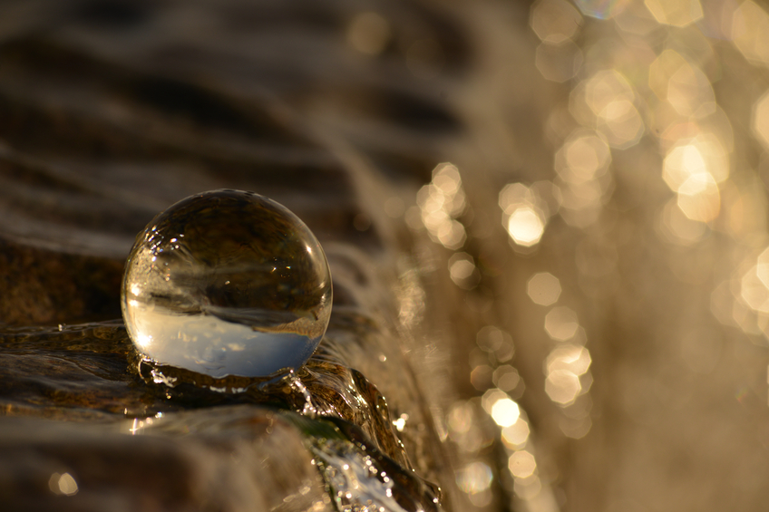 Crystal Ball and Water