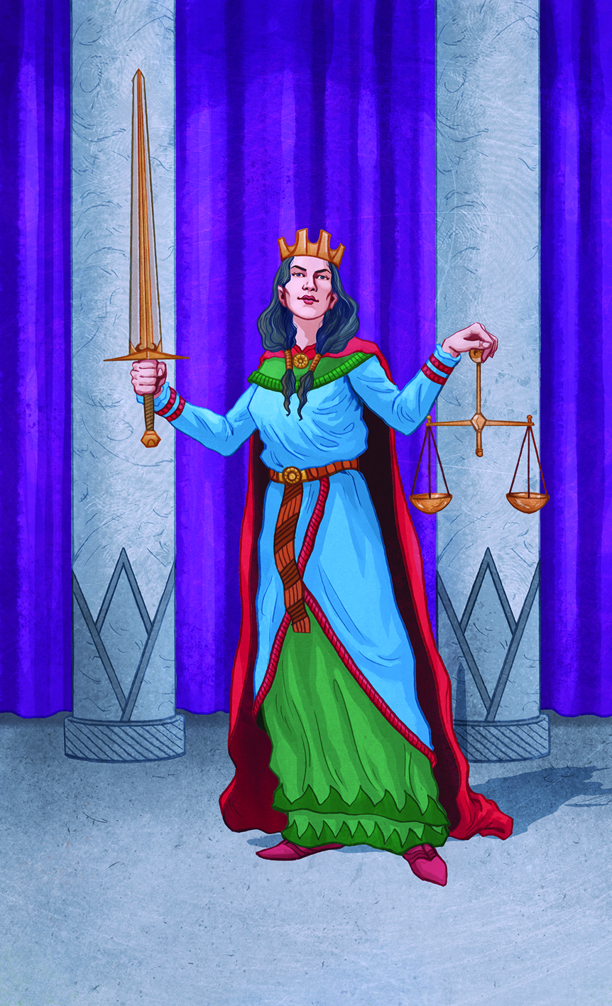Justice from Llewellyn's Classic Tarot