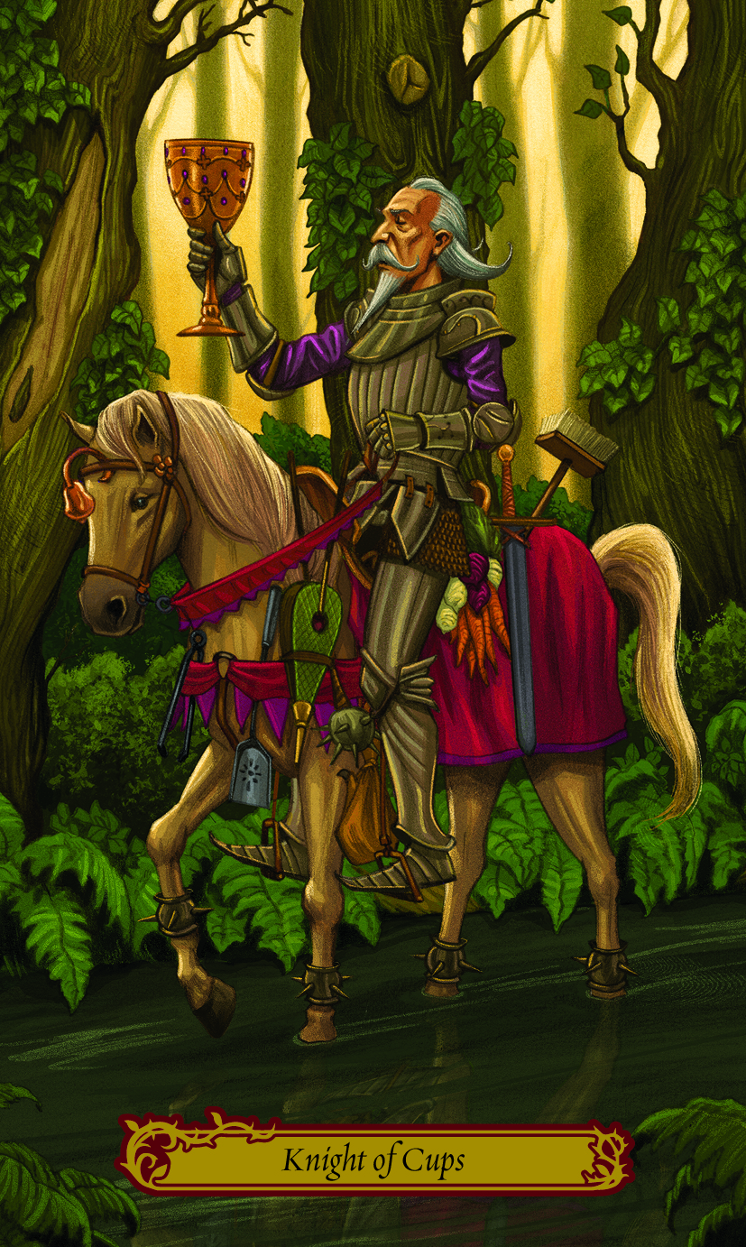 Knight of Cups from Tarot in Wonderland