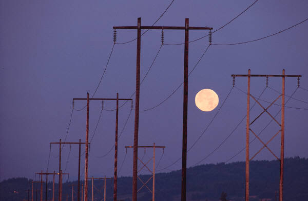 Moon and Powerlines