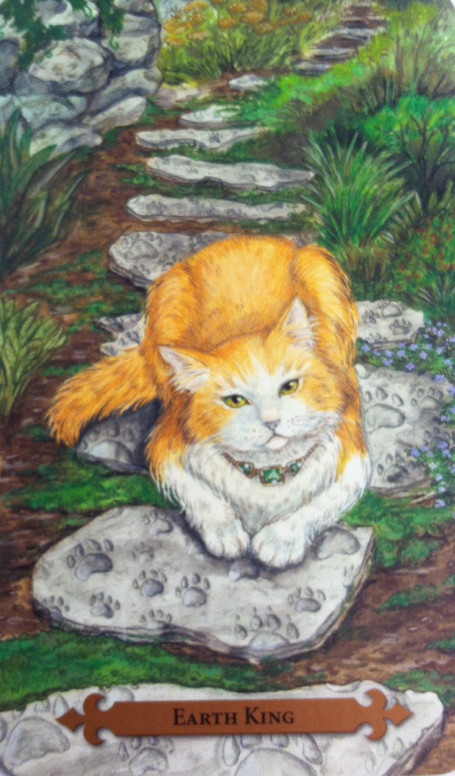 Earth King from Mystical Cats Tarot
