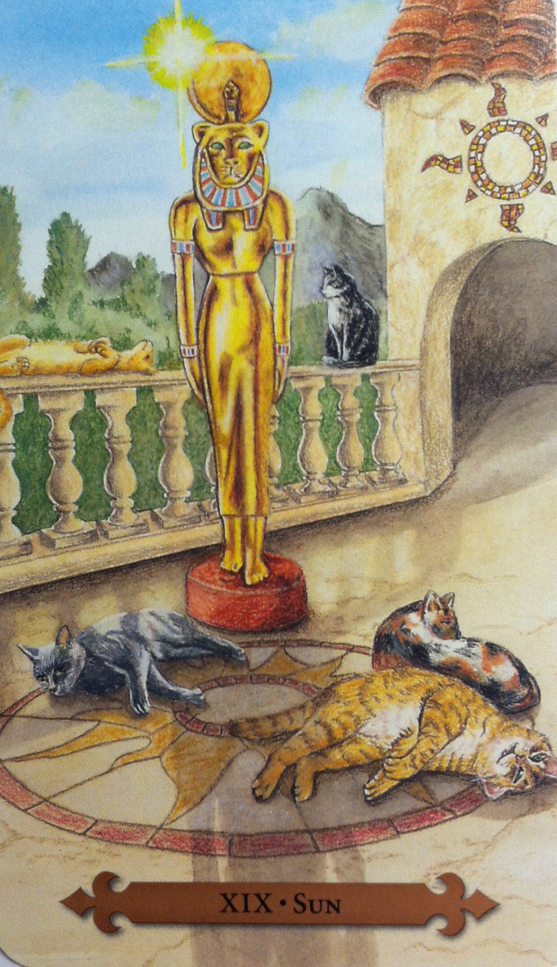 Sun from the Mystical Cats Tarot