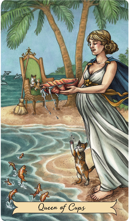 Queen of Cups from the Everyday Witch Tarot
