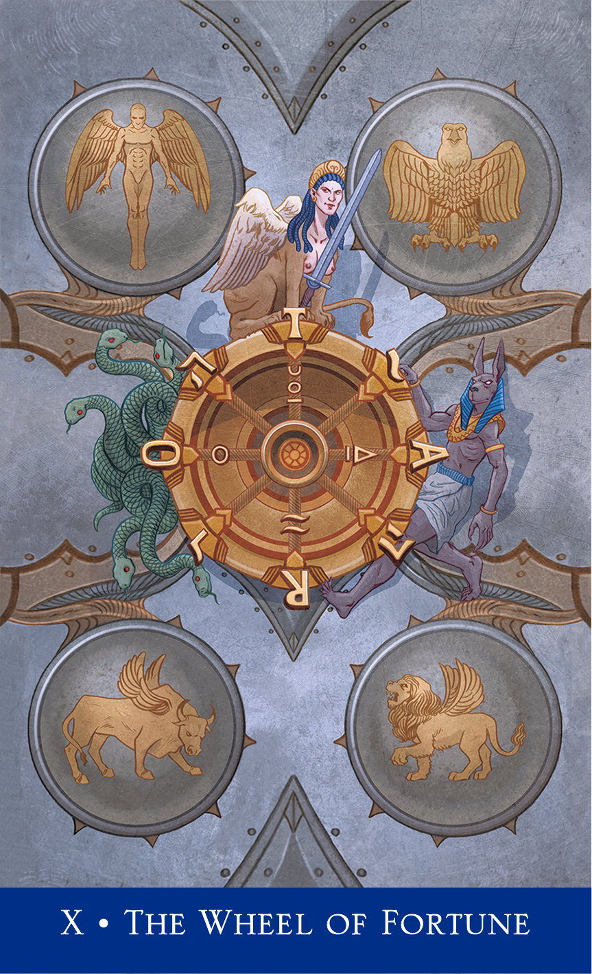 Wheel of Fortune from Llewellyn's Classic Tarot