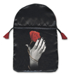 Rose in Hand Satin Tarot Bag