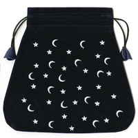 Moon and Stars Velvet Bag
