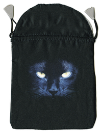 Black Cat Satin Bag, by Lo Scarabeo