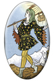 Universal Tarot The Fool Magnet