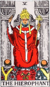Hierophant from the Rider-Waite-Smith Tarot Deck