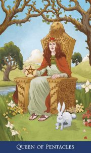 Queen of Pentacles from Llewellyn's Classic Tarot